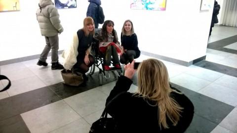 Выстава мастака-мадэрніста Монікі Лемяшонак адкрылася ў выставачнай залі на вул. Болдзіна