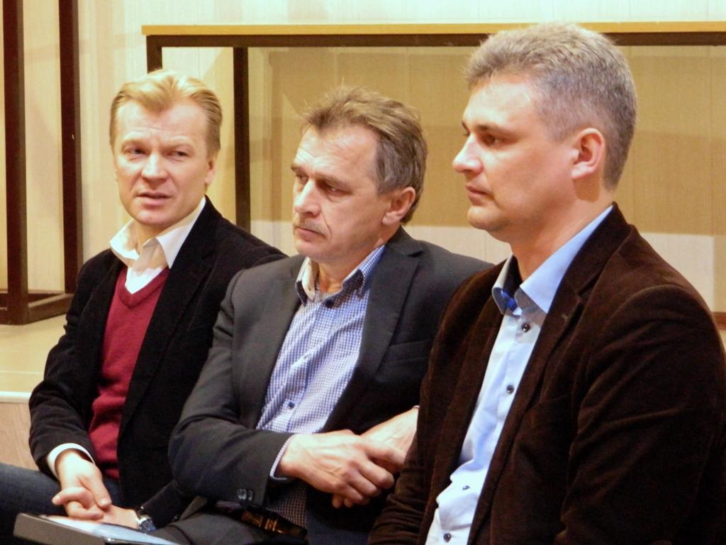Лябедзька, Рымашэўскі і Губарэвіч распавялі ў Магілёве пра кааліцыю правацэнтрыстаў