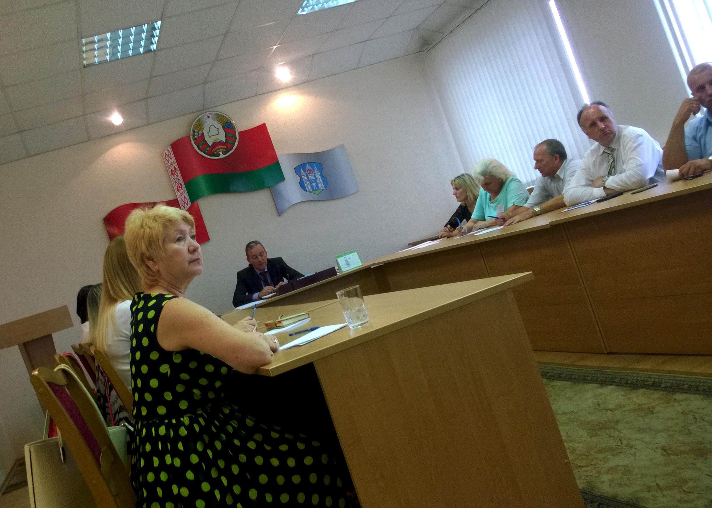 Паседжанне 11 жніўня ў Магілеўскай-Кастрычніцкай выбарчай камісіі №86