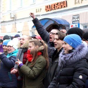 Марш нетунеядцев в Могилеве