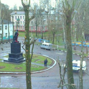 В Могилеве памятник Ленину облили краской
