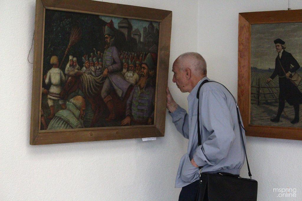 11 фотаздымкаў таго, як адкрылі касмічную выставу работ Язэпа Драздовіча