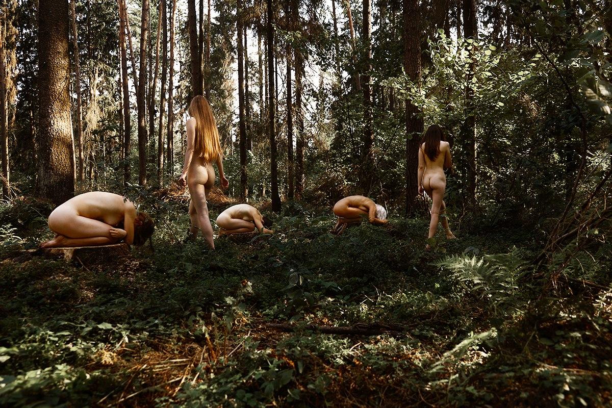 девушки лес природа баня видео с переводом