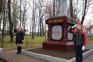 У Шклове адзначылі 100-годдзе камсамола. Мяркуючы па фота, райцэнтр дагэтуль у складзе СССР