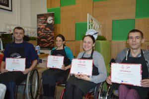 У Магілёве людзі з інваліднасцю запускаюць кава-кропку ў гандлёвым цэнтры