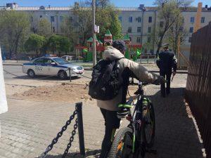 Міліцыя аштрафавала магілёўскіх раварыстаў за язду па пешаходнай вуліцы