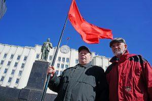 Могилевские коммунисты наплевали на меры безопасности ради Ленина ФОТО