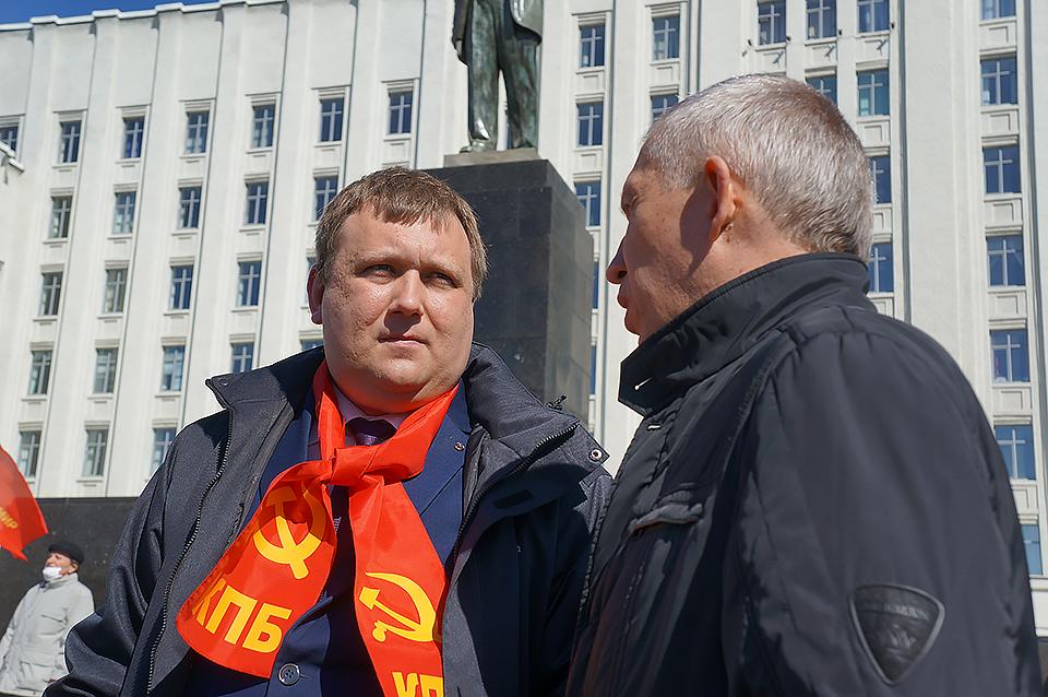 Магілёўскі актывіст паскардзіўся ў міліцыю на камуністаў за мітынг каля помніка Леніна