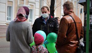 Актывіст правёў інфармацыйную акцыю супраць свабоднай эканамічнай зоны ў цэнтры Магілёва