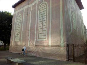 """""""Потёмкинская деревня"""" для Лукашенко. В центре Могилёва от президента «спрятали» целый дом"""