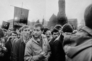 Як праходзіла першая масавая акцыя пратэсту ў Беларусі. Відэа-выстава